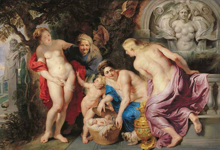 Pieter Paul Rubens, Le figlie di Cecrope, 1615, Vienna Liechtenstein, The Princely Collections