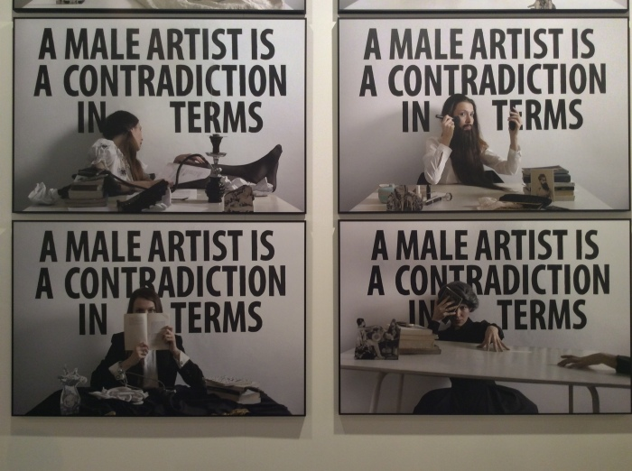 Chiara Fumai, A male artist is a contradiction in terms, 2017 @ Rosa Santos